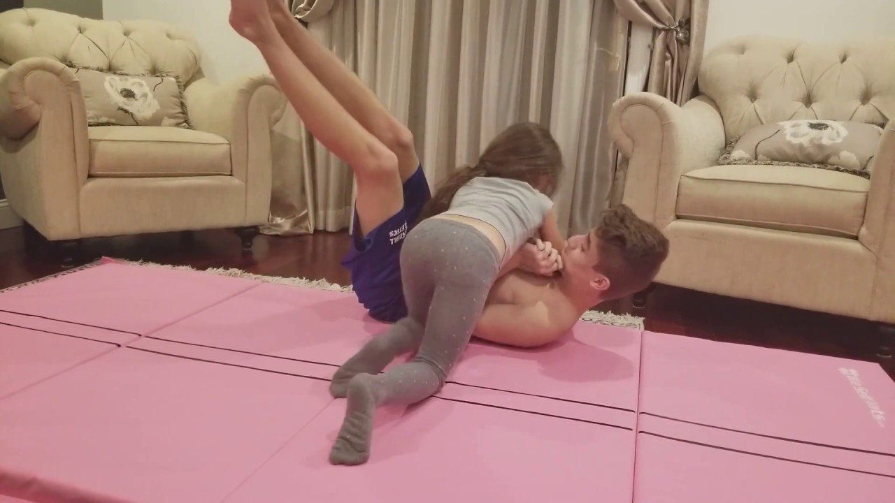 WRESTLING MY LITTLE BROTHER!!