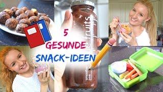5 GESUNDE & SCHNELLE SNACK-IDEEN für die SCHULE & UNTERWEGS!