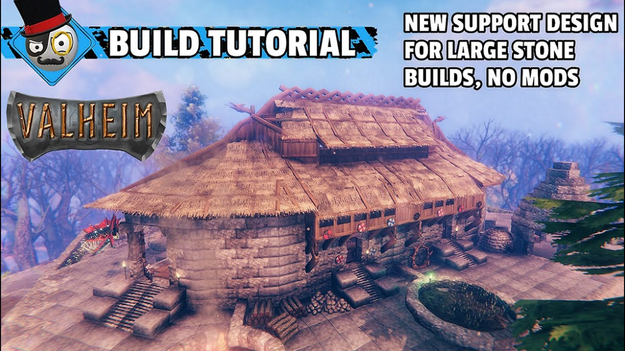 Download Valheim - How to Build a Viking Castle - New Support Design for Large Stone Builds (No Mods)