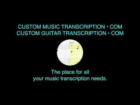Long Distance Love | Little Feat | Custom Guitar Transcription | Custom Music Transcription