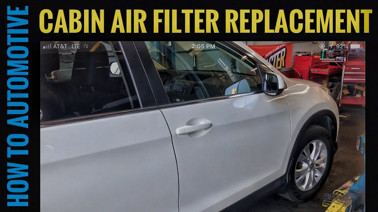 How To Replace The Cabin Air Filter On A 2012 2016 Honda Cr