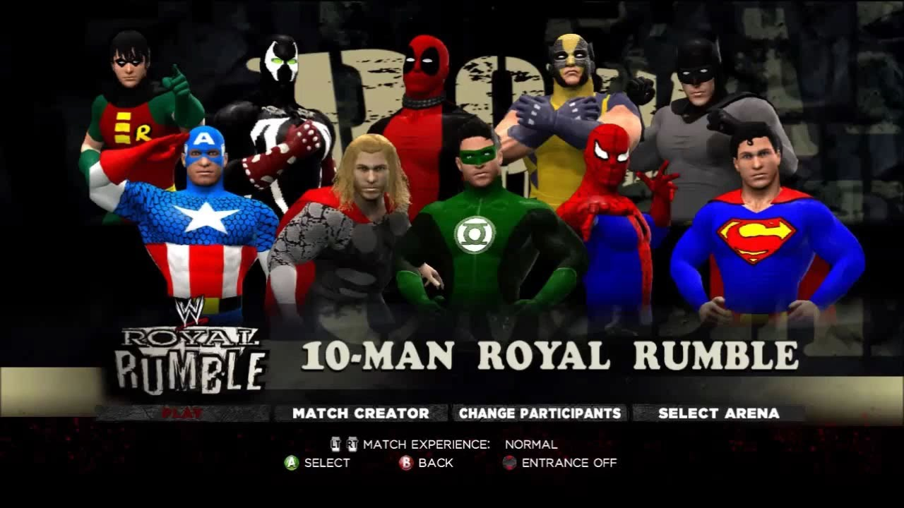 how to get superheroes on wwe 2k15