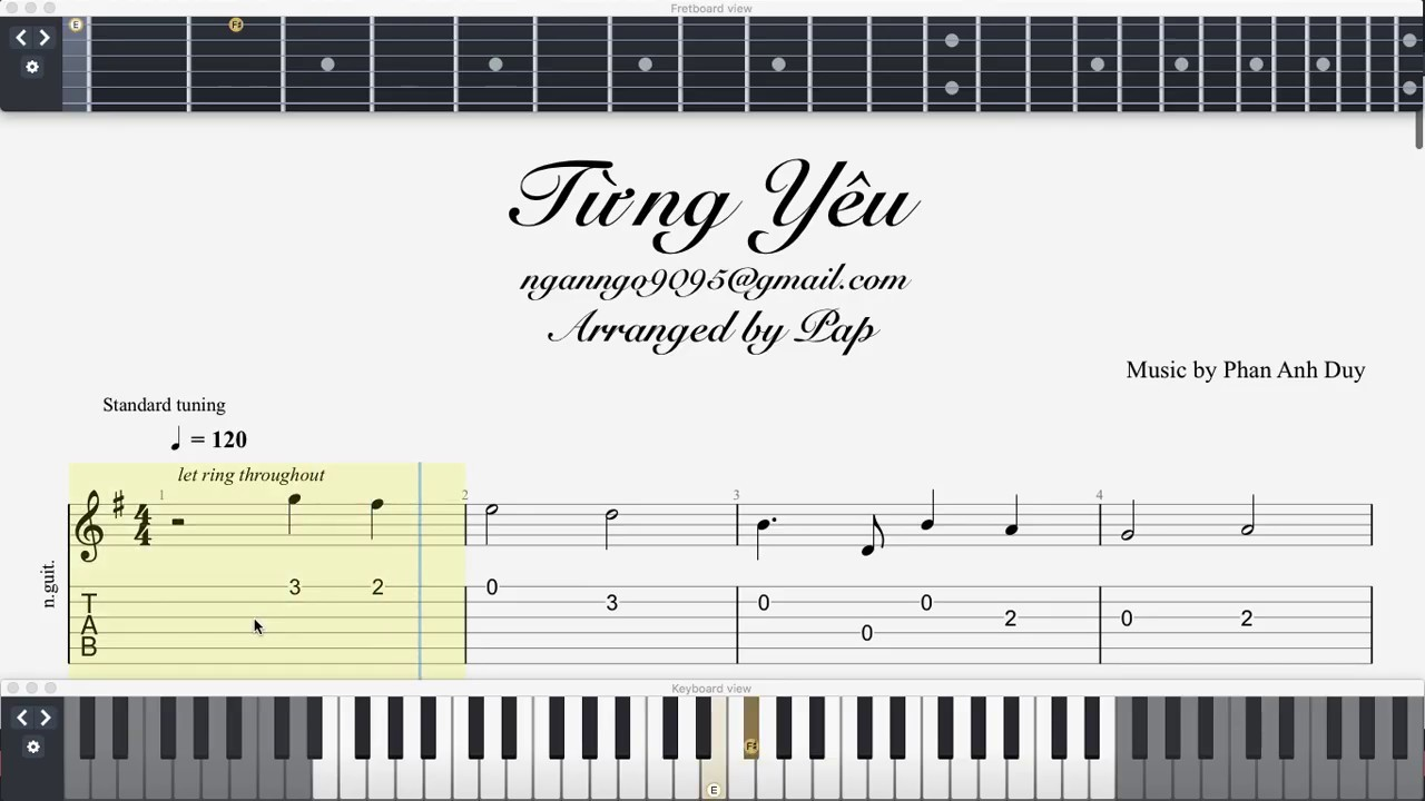 [Guitar Tab Sheet] – Từng Yêu | Phan Duy Anh