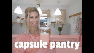 How to simplify pantry- Capsule pantry-Minimalist pantry organization