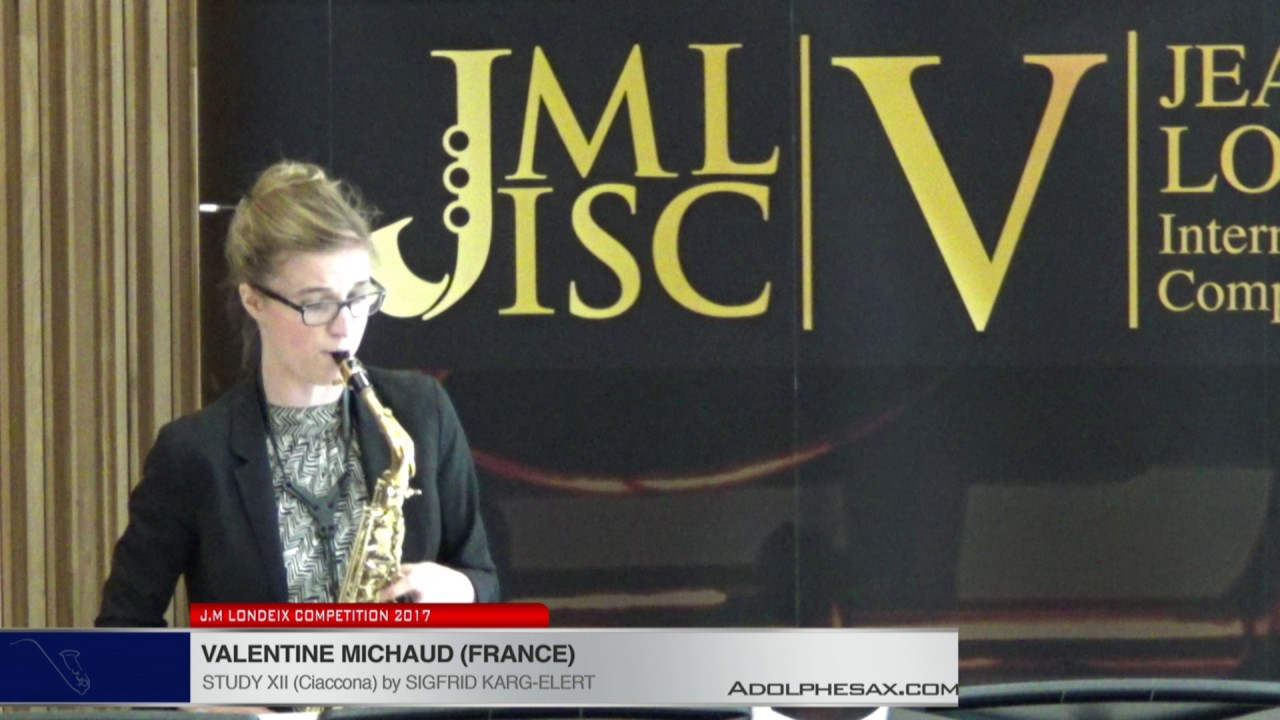 Londeix 2017 - Valentine Michaud (France) - XII Ciaccona by Sigfrid Karg Elert