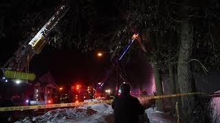 Grand Rapids Fire Department responds to an apartment fire