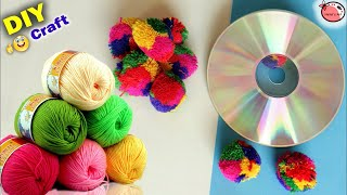 Best Craft Idea at Home   DIY Room Decor   Woolen Wall Hanging   Best out of Waste Handmade Things