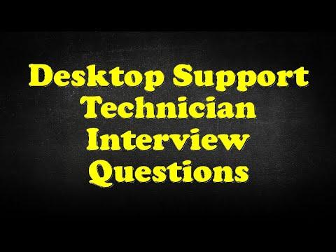 Desktop Support Technician Interview Questions - YouTube