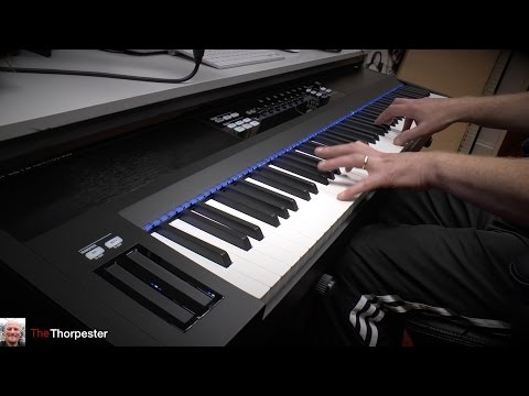 Native Instruments Komplete Kontrol S88 unboxing, review and test