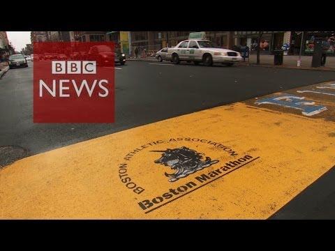 Boston marathon bombings: 1 year on - BBC News