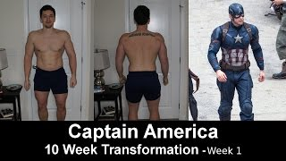 Project; Captain America - 10 Week Transformation - Week 1 - USA & Physique Update