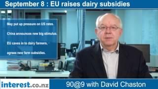 90 seconds @ 9am : EU raises dairy subsidies