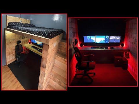 DIY Rustic Style Loft Bed / Gaming Area