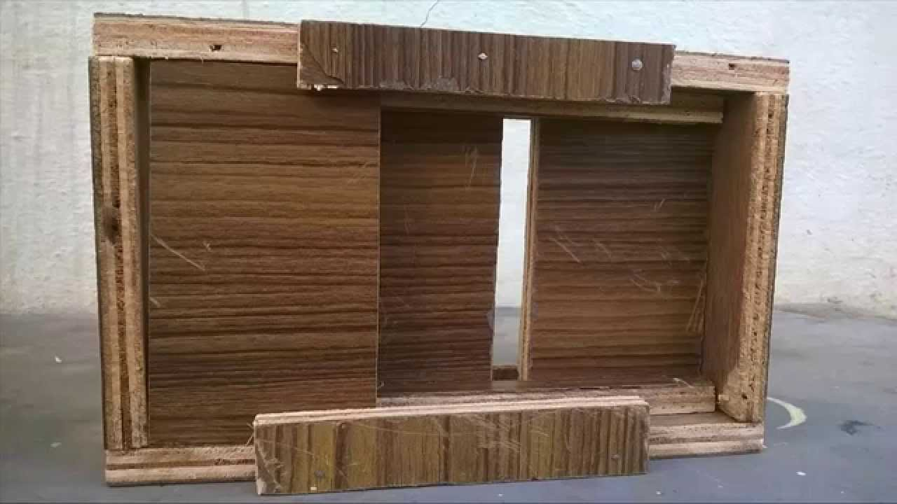 & 3D Sliding door and Gun Woodworking and Engineering - YouTube