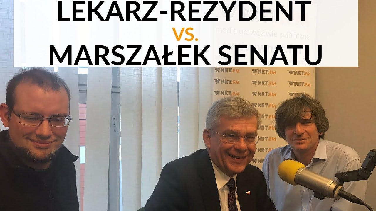 Lekarz-rezydent vs. marszałek Senatu – gorąca dyskusja na temat reformy służby zdrowia