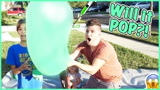 will our giant slime bubble pop making slime pancakes