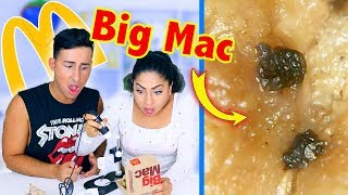 WHAT MCDONALD'S LOOKS LIKE UNDER A MICROSCOPE! 1000X *GROSS*