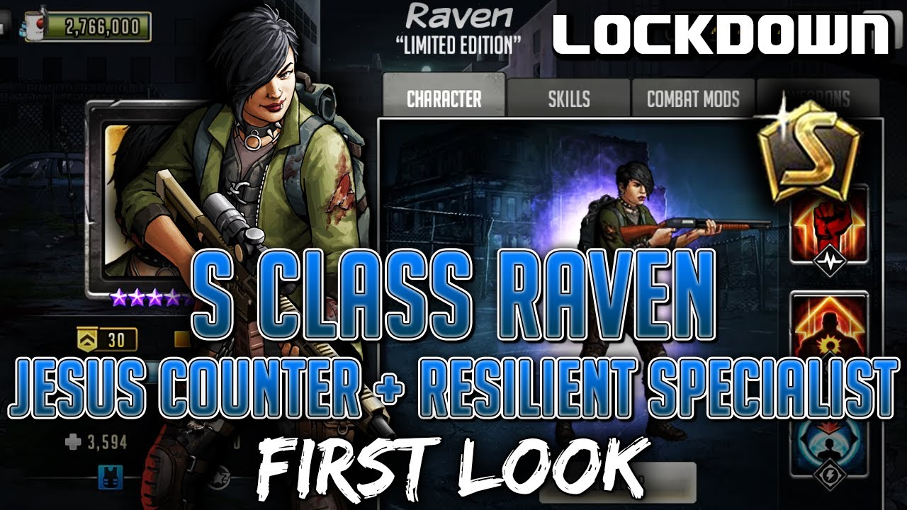 TWD RTS: S Class Raven, Jesus Counter + Resilient Specialist! Walking Dead: Road to Survival Leaks