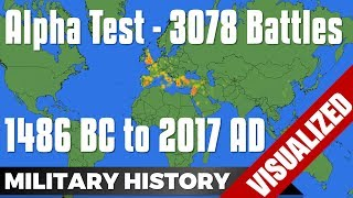 Alpha-Test: 3078 Battles from 1486 BC to 2017 AD - World Map #Mapping