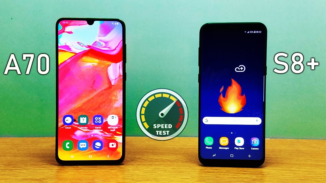 Samsung Galaxy A70 vs Samsung Galaxy S8 Plus Speed Test! Midrange vs Flagship</p>      </div>
