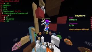 #195 CubeCraft Solo Skywars Hacker pepemilver [anti kb + fly hacks] [BANNED]