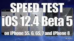 iOS 12.4 Beta 5 Speed Test on iPhone 5S, 6, 6S, 7 and iPhone 8 (Build 16G5056d)