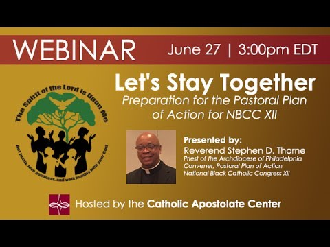 """Let's Stay Together"" - Preparation for the Pastoral Plan of Action for NBCC XII"