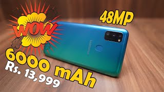 Samsung Galaxy M30s unboxing, 6000 mAh battery ⚡, sAMOLED, 48MP 💥, 188 grams  weight 🔥