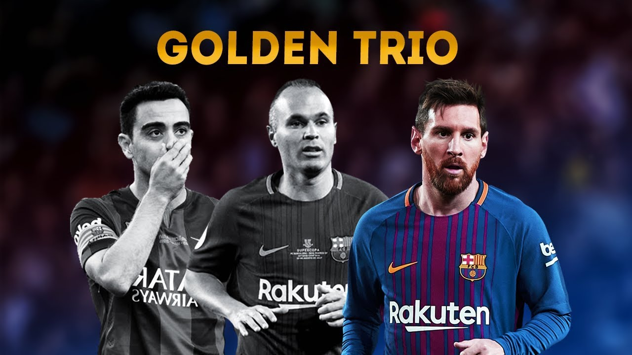 Xavi Iniesta Messi Golden Trio Tiki Taka Youtube