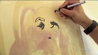 Seattle artist uses coffee and wine to capture unforgettable faces - KING 5 Evening