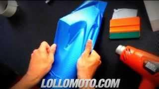 Pellicola Adesiva Car Wrapping Carbonio BLU Termoformabile 3D Auto Moto Camper Camion LOLLOMOTO