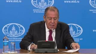 Пресс-конференция С.Лаврова по итогам 2018 года