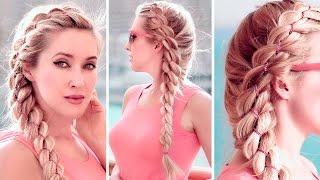 Chain braid ★ 4 strand braided hairstyle for long hair tutorial