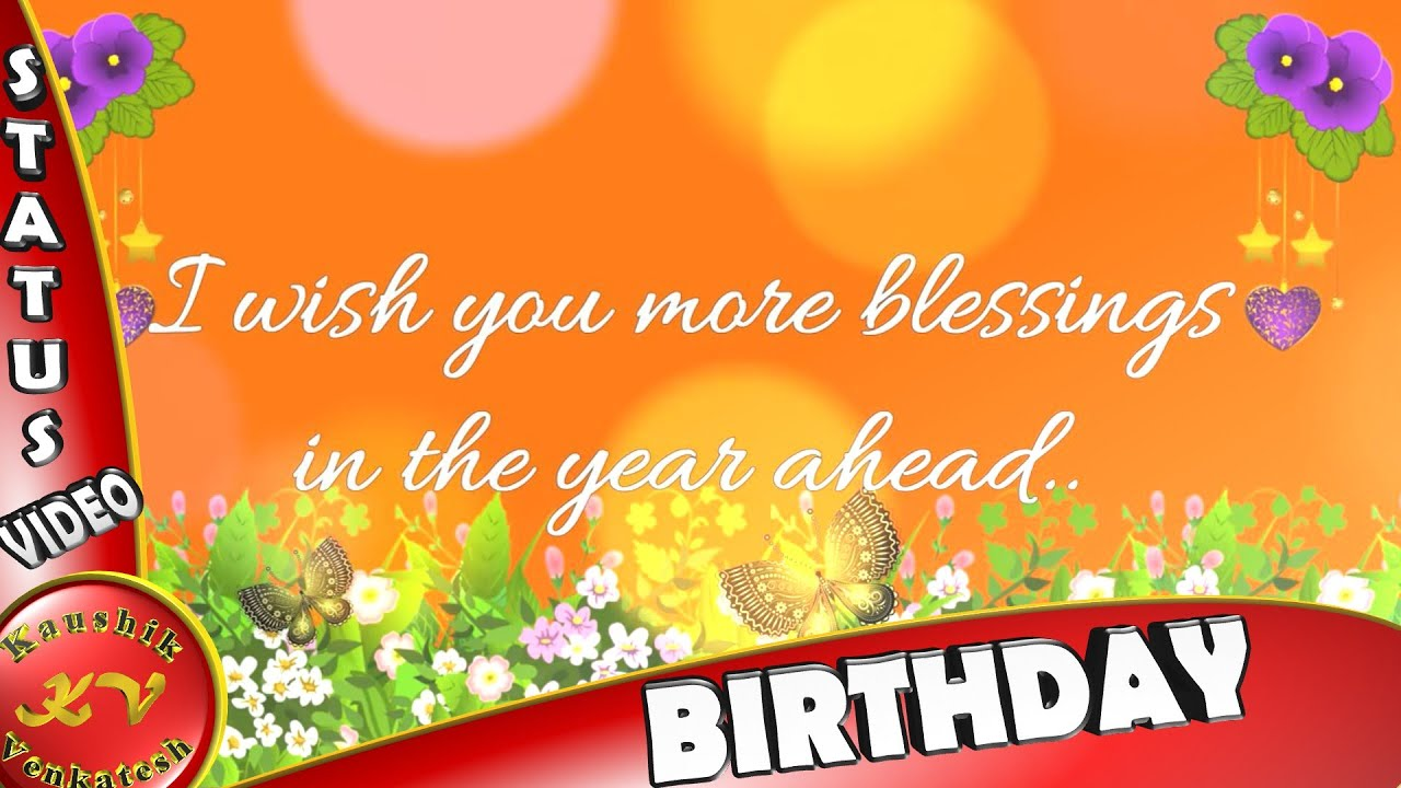 Birthday Wishes For Someone Special Greetings Messages Animation Happy Whatsapp Video