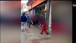 Banda de niños mecheros se enfrentaron con guardias  de multitienda - CHV Noticias