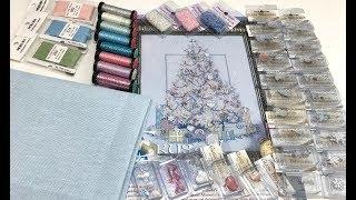 82 Елочка Crystal tree by Sandra Paradise / обзор материалов / начало нового процеса  / вышивка