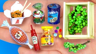 12 DIY MINIATURE REALISTIC FOOD AND DRINKS FOR BARBIE
