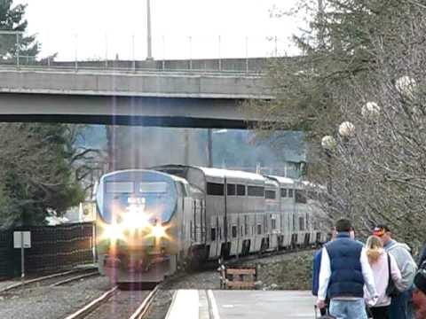 Amtrak's#134 Coast Starlight (2-17-09) Salem Oregon
