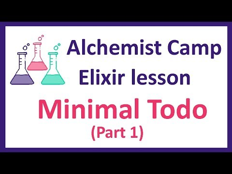 Elixir learning: Minimal Todo List Part 1