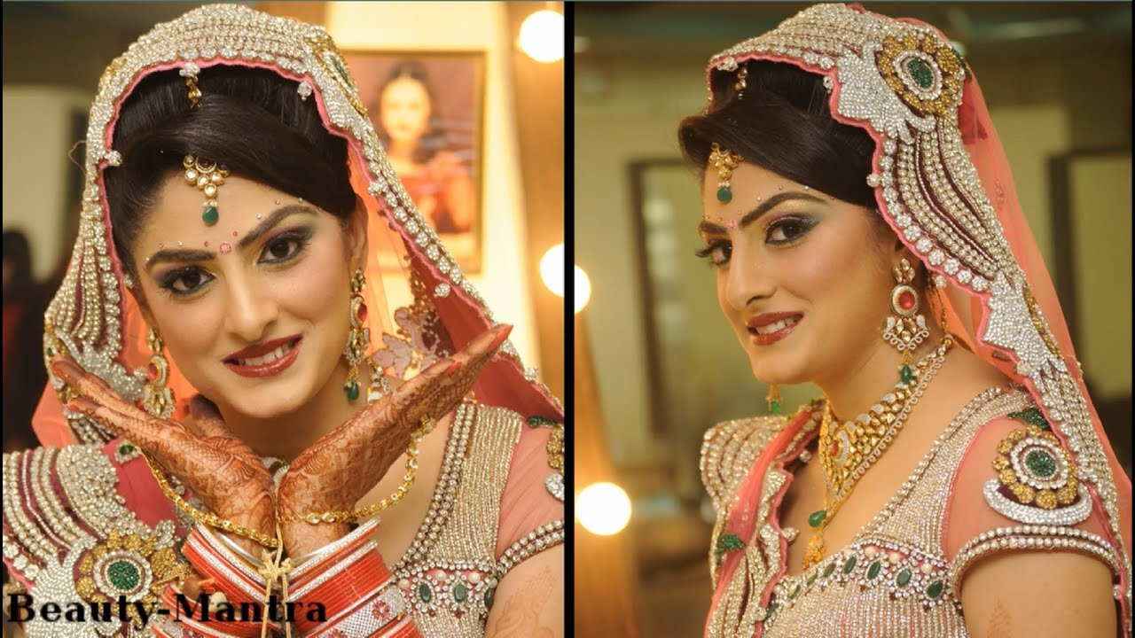 Indian Bridal Makeup In Shades Of Pink Youtube