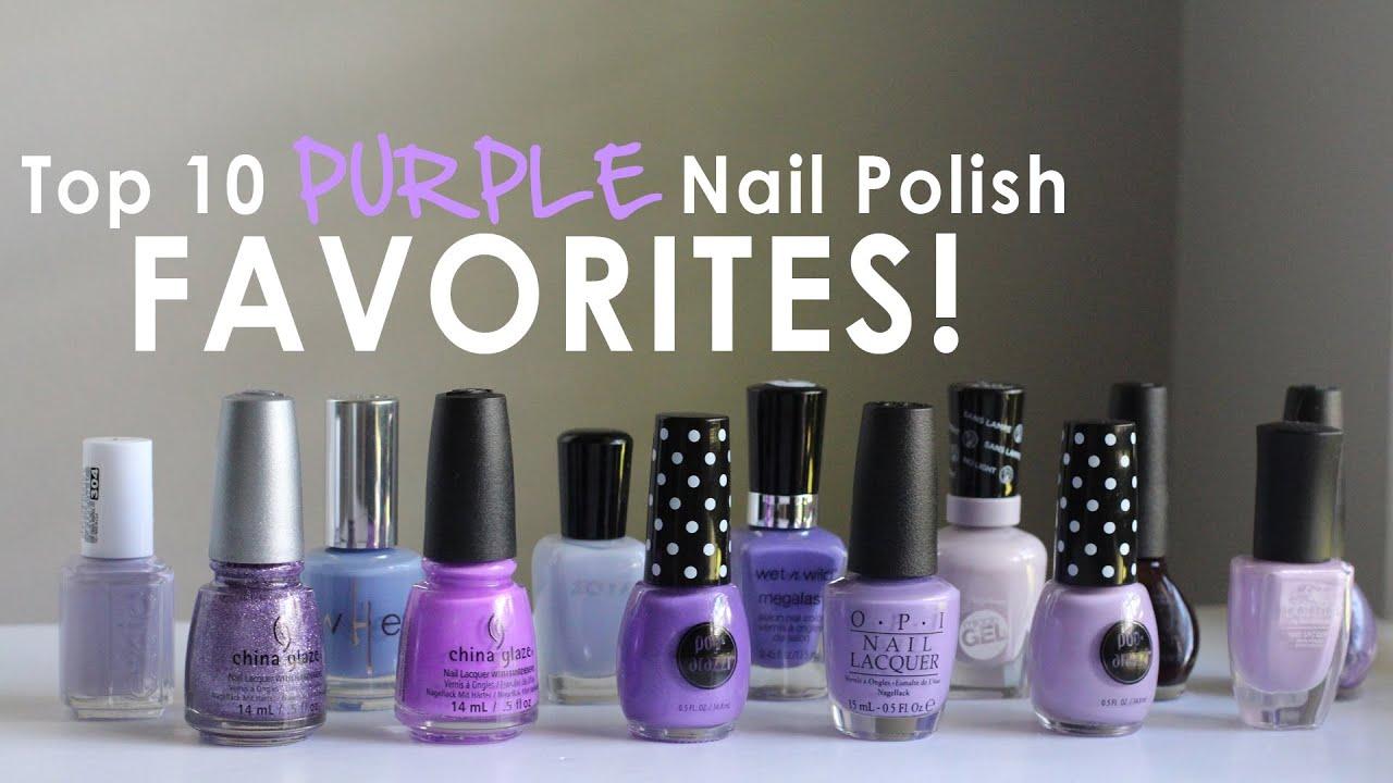 My Top 10 Purple Nail Polish Favorites! OPI, Essie, Zoya, China Glaze &  More!!