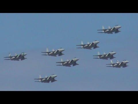 F-15J eagle 大編隊飛行 Large formation 小松基地航空祭2019 Japan Air Self-Defense Force