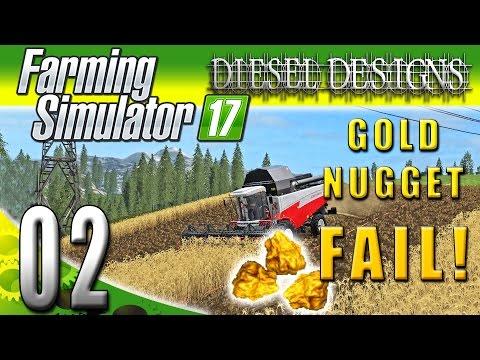 Farming Simulator 2017 Gameplay :EP2: GOLD NUGGET FAIL! (PC Fichtelberg HD)