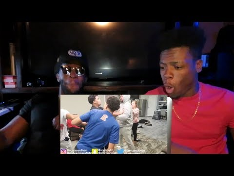"""BREAKING UP IN FRONT OF COMPANY""! PRANK! ON AR'MON & TREY , CHRIS & QUEEN!!  *REACTION*"