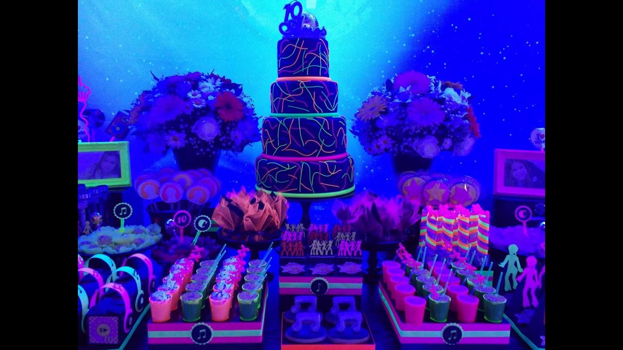 Suficiente Festa Neon - Decoração Balada - Glow Party - YouTube RA29