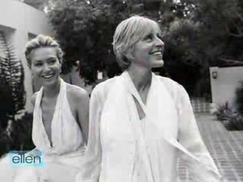 Ellen And Portia Wedding.Ellen Portia S Wedding Video Youtube