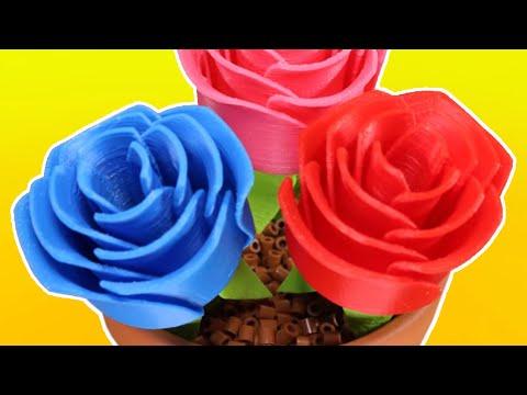 3D Printed Roses