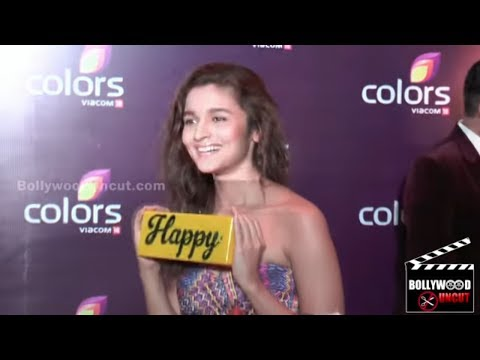 Alia Bhatt In A Tight Dress At Colors TV Party 2015