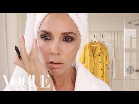 Victoria Beckhams Five-Minute Face  Beauty Secrets  Vogue