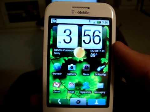 My rooted G1 running Motorola Cliq